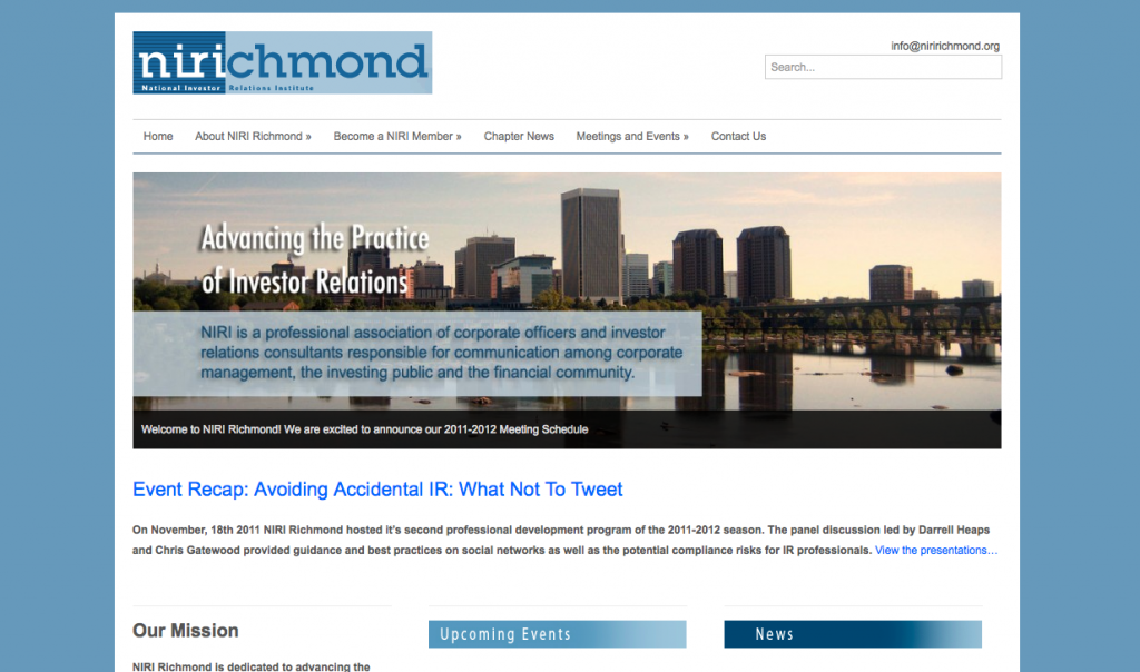 NIRI Richmond Website